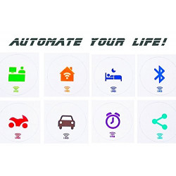 LINQS® PlaceMode NFC Tag Stickers (Set of 8) | for All Phones | NXP NTAG213 chip