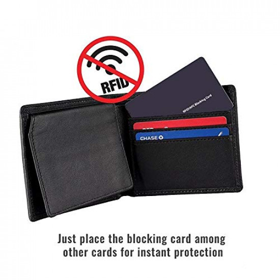 LINQS® RFID/NFC Blocking Card: Protects Contactless Credit/Debit Cards from Theft | Makes Wallet RFID Safe | Great Blocking Range | Premium Finish