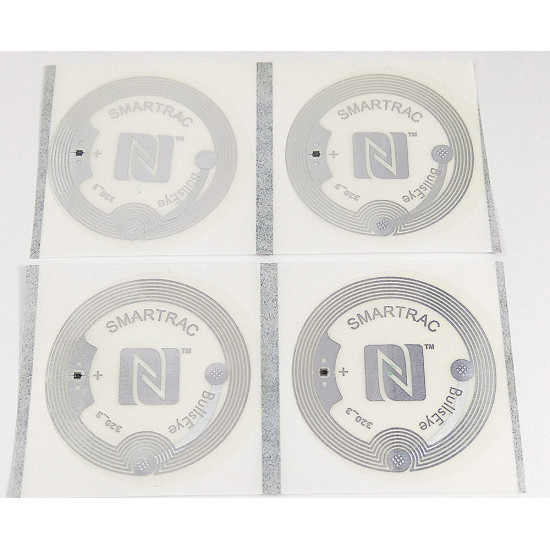 LINQS® Transparent NFC Action Tags | Set of 10 | Best scan Strength | for All NFC Phones | Smartrac Bullseye NTAG213