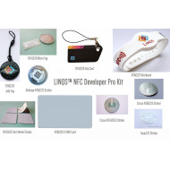 LINQS NFC Developer Pro Kit/NTAG203/NTAG213/NTAG216, Topaz512 Chips in Jelly Tag, Wristband, Card, Band and Sticker form factors