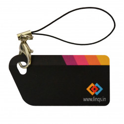 LINQS® Key Chain NFC Tag (Set of 2) - High Memory 888 Bytes NXP NTAG216 chip - Compatible with All NFC Phones.