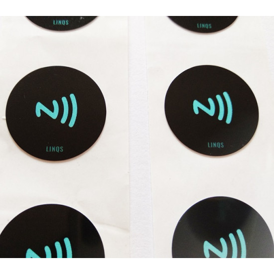LINQS® - High Memory NTAG215 NFC Stickers (Set of 6) | Waterproof | Compatible with All NFC Phones, Amiibo & TagMo