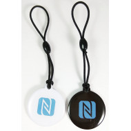 LINQS® - High Memory 888 Bytes Jelly NTAG216 NFC Tag (Set of 2)   for All NFC Phones   Keychain Epoxy NFC Tags